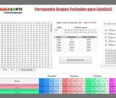 Grupos Fechados e Matrizes para Lotofacil