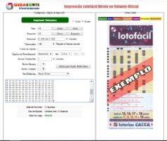 Ferramenta Impressor de Volantes para Lotofacil – Liberado