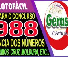 LOTOFACIL 1988 DICAS E ANALISE